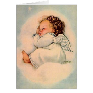 Vintage Baby Angel Greeting Card