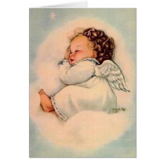 Vintage Baby Angel Greeting Card