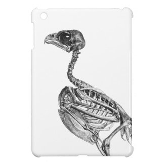 Vintage baby bird skeleton etching iPad mini cases