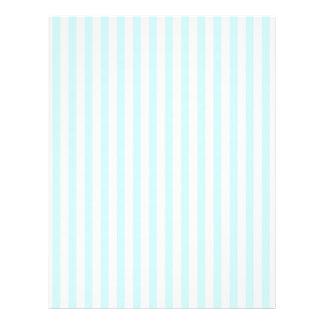 Vintage Baby Blue Pastel Colors Stripes Pattern 21.5 Cm X 28 Cm Flyer