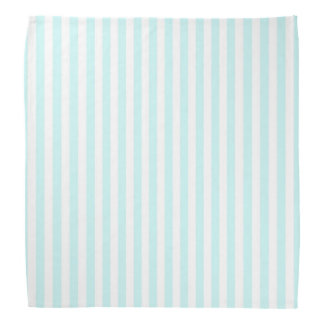 Vintage Baby Blue Pastel Colors Stripes Pattern Do-rags