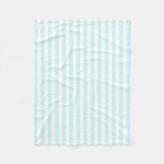 Vintage Baby Blue Pastel Colors Stripes Pattern Fleece Blanket