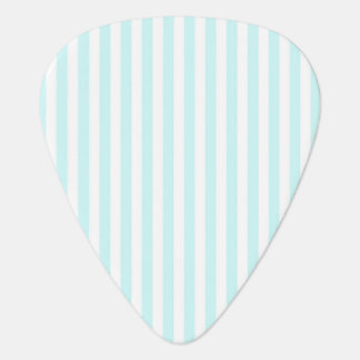 Vintage Baby Blue Pastel Colors Stripes Pattern Plectrum