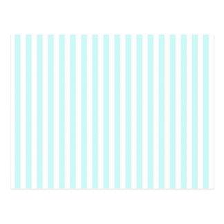 Vintage Baby Blue Pastel Colors Stripes Pattern Postcard