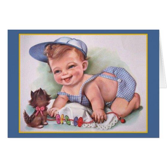 Vintage Baby Boy Card