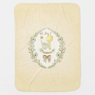 Vintage Baby Boy Handsome Nursery Decorative Receiving Blankets