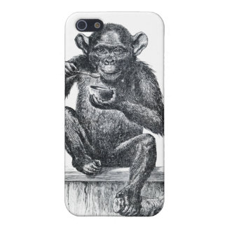 Vintage Baby Chimpanzee Drawing iPhone 5/5S Cases