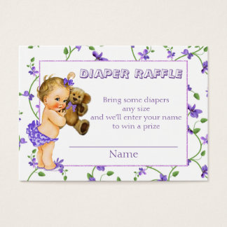 Vintage Baby Girl Baby Shower Diaper Raffle