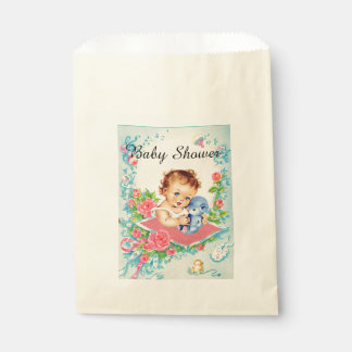 Vintage Baby Girl Baby Shower Favor Bags Favour Bags