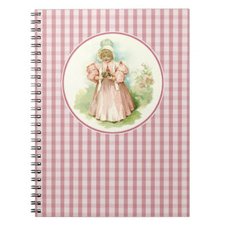 Vintage Baby Girl with Chicks Easter Gift Notebook