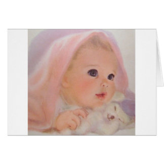 Vintage Baby Greeting Card