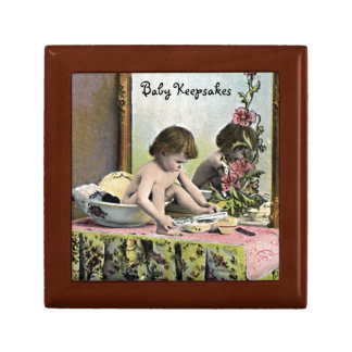 Vintage Baby On A Dressing Table Gift Box