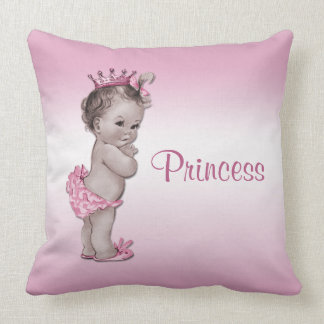 Vintage Baby Princess Pink Cushion