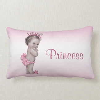 Vintage Baby Princess Pink Lumbar Cushion