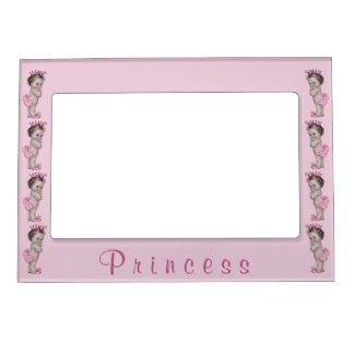 Vintage Baby Princess Pink Magnetic Picture Frame