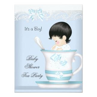 Vintage Baby Shower Boy Blue Baby in Teacup Card