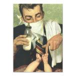 Vintage Baby Shower for Men! A Dadchelor Party! 11 Cm X 16 Cm Invitation Card