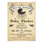 Vintage Baby Shower Invitation II