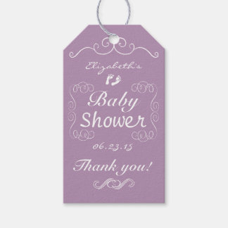 Vintage Baby Shower Lavender and White