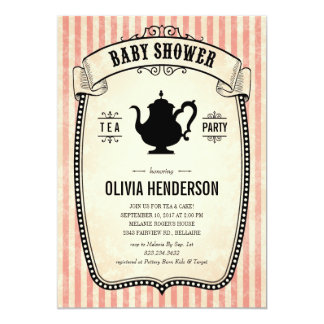 baby shower tea party invitations