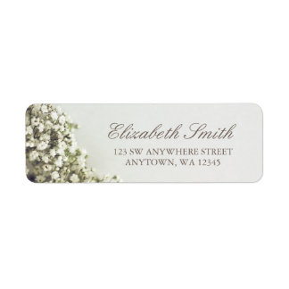 Vintage Baby's Breath Return Address Label