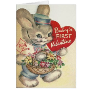 Vintage Baby's First Valentine's Day Card