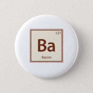Vintage BACON Periodic Table 6 Cm Round Badge