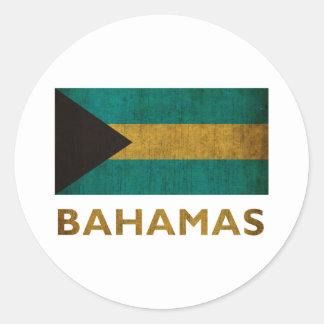 Vintage Bahamas Classic Round Sticker