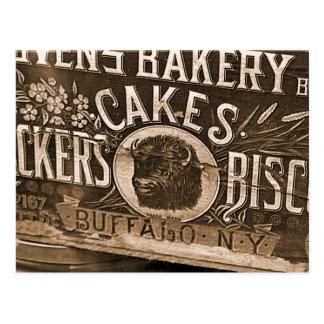 Vintage Bakery Ad Postcard