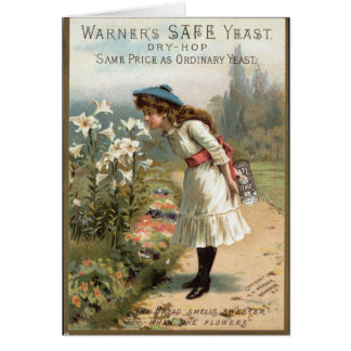 Vintage Bakery Advertisment Greeting Card