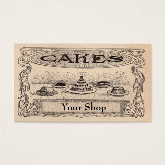 Vintage Bakery business Cards