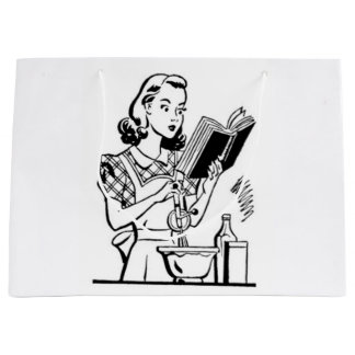 Vintage Baking Mom - Mothers Day Large Gift Bag