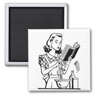 Vintage Baking Mom - Mothers Day Square Magnet