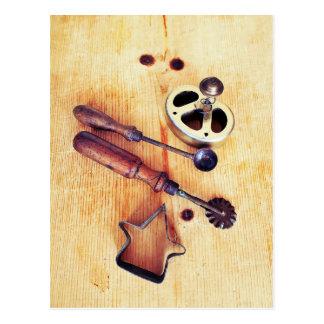 Vintage Baking Tools Postcard