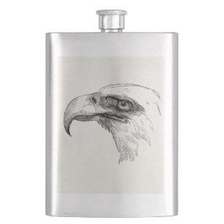 Vintage Bald Eagle Bird Head Personalized Eagles Hip Flask