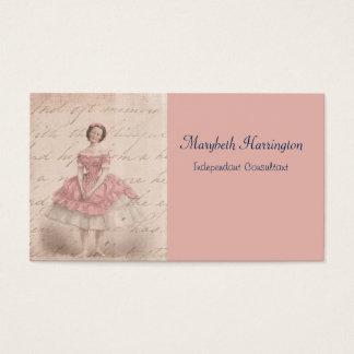Vintage Ballerina Girl in a Pink Tutu