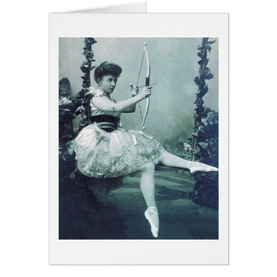 Vintage Ballerina with Cupid's Bow, Card