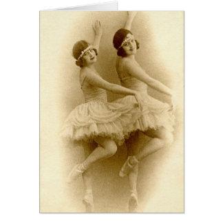 VIntage Ballerinas Card