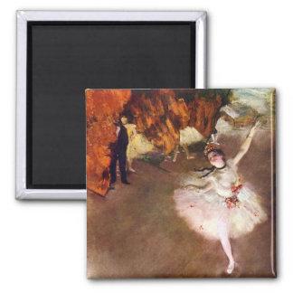 Vintage Ballet Art, Prima Ballerina by Edgar Degas Square Magnet