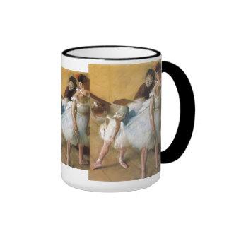 Vintage Ballet, Dance Examination by Edgar Degas Ringer Mug