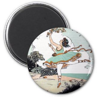 Vintage Ballet Dancer Magnet