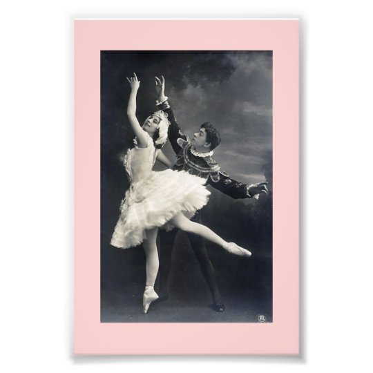 Vintage Ballet Dancers Art Photo