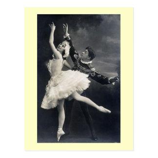 Vintage Ballet Dancers Postcard