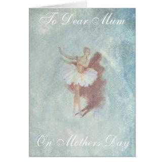 VINTAGE BALLET MOTHERS DAY CARD