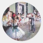 Vintage Ballet, The Dance Class by Edgar Degas Round Sticker