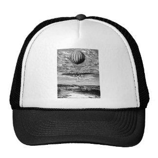 Vintage Balloon Balloonist with Parachute Mesh Hats