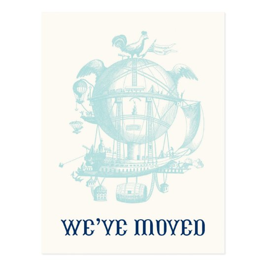 Vintage Balloon Moving Announcement Postcard