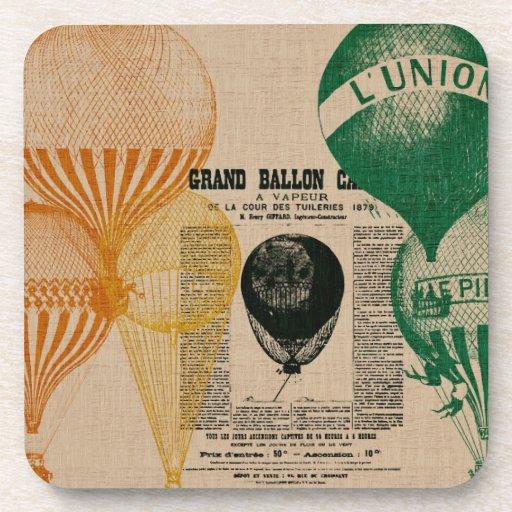 Vintage Balloons Beverage Coaster