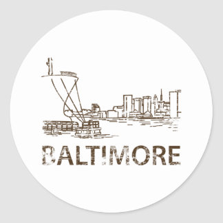 Vintage Baltimore Classic Round Sticker