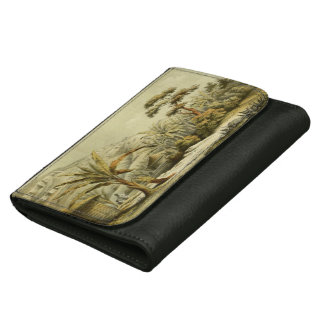 Vintage banana tree plantation abyssinia wallet